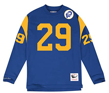 Los Angeles Rams Mens Mitchell   Ness Dickerson Throwback Long Sleeve T- Shirt (Medium 53c94c500