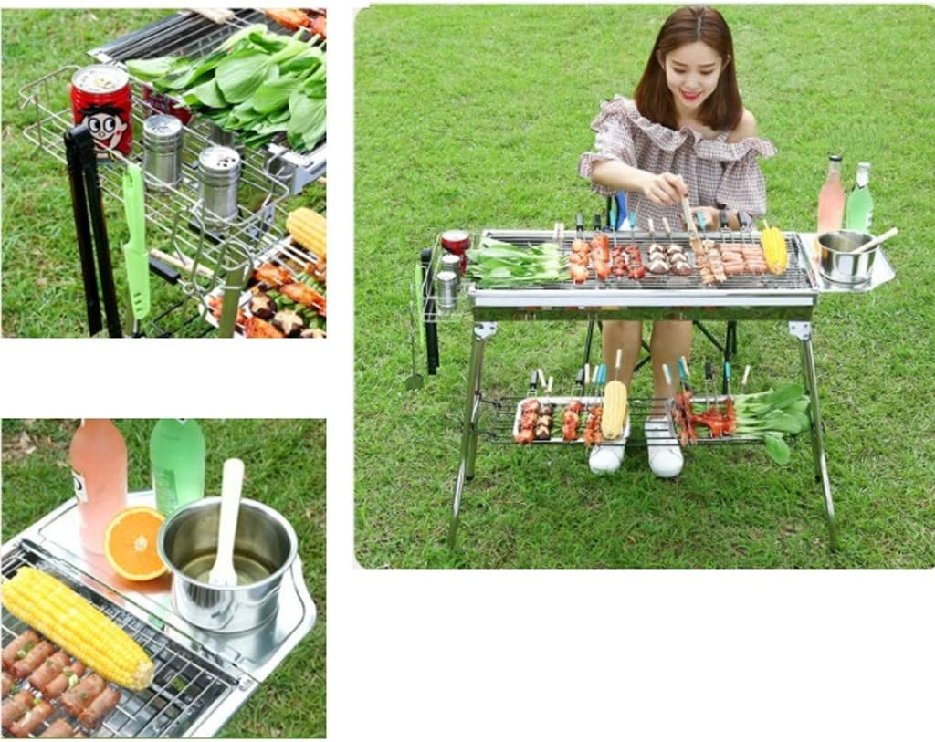 RKY Barbecue en acier inoxydable Grill, Grill pliant Ménage extérieur Barbecue Outils Portable / - / (Color : A) A