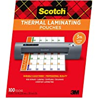 Amazon Price History for:Scotch Thermal Laminating Pouches, 100-Pack, 8.9 x 11.4 Inches, Letter Size Sheets - 1 Pack