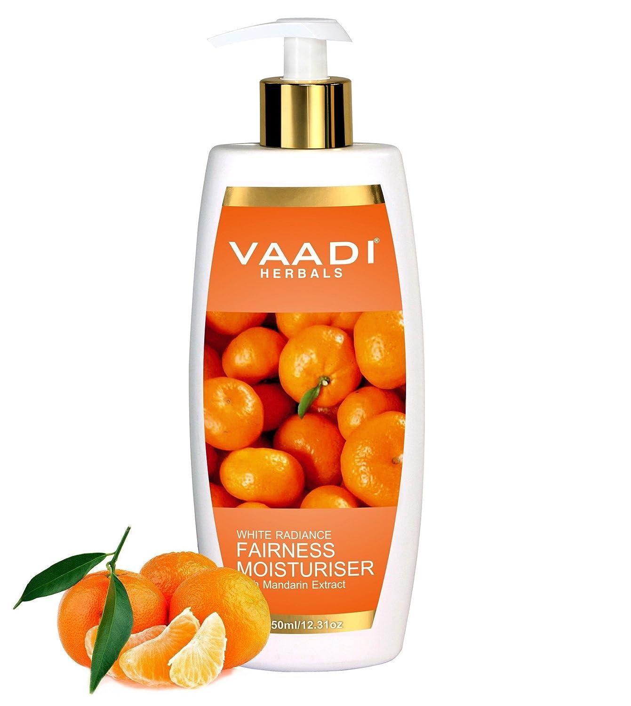Fairness Loción Humectante con extracto de mandarina y seda - Vitamina C ricos que los mandarines lightens eficazmente su tono de piel Hidratante mientras ...
