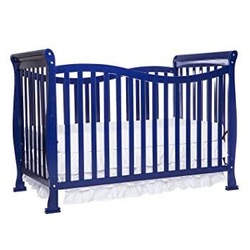 Dream On Me Violet 7 In 1 Convertible Life Style Crib Royal Blue
