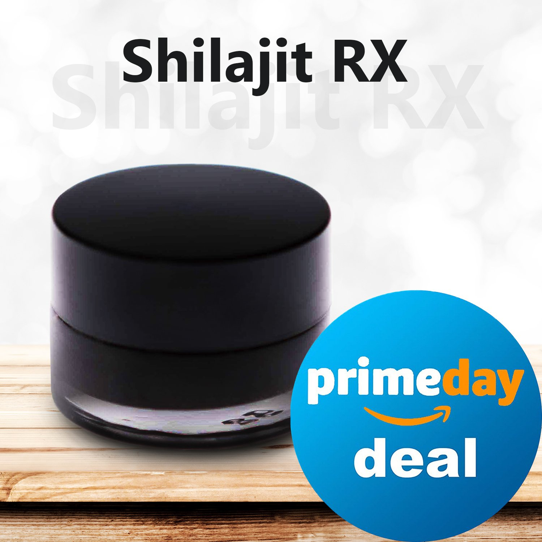 Shilajit RX. 100 Servings Jar. Natural Raw Shilajit Resin: Premium Mineral Supplement Paste – Organic Resin Shilajit Extract