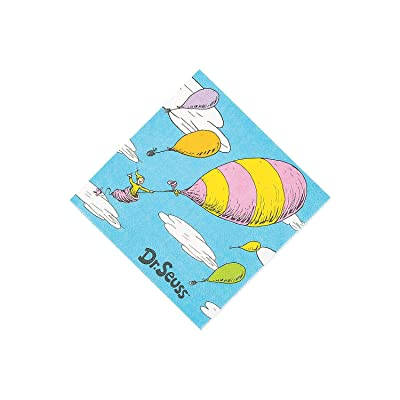 OH THE PLACES YOU'LL GO BEV NAP - Party Supplies - 16 Pieces: Toys & Games