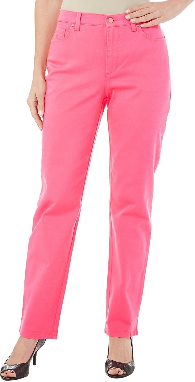 Gloria Vanderbilt Amanda Heritage Fit Classic Rise Stretch Pink Denim Jeans New