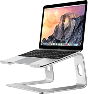 """Portable Laptop Stand - Aluminum Laptop Stand Adjustable Height Ergonomic Computer Mount for MacBook Air Pro, Dell XPS, Lenovo More 10-15.6"""" Laptops"""