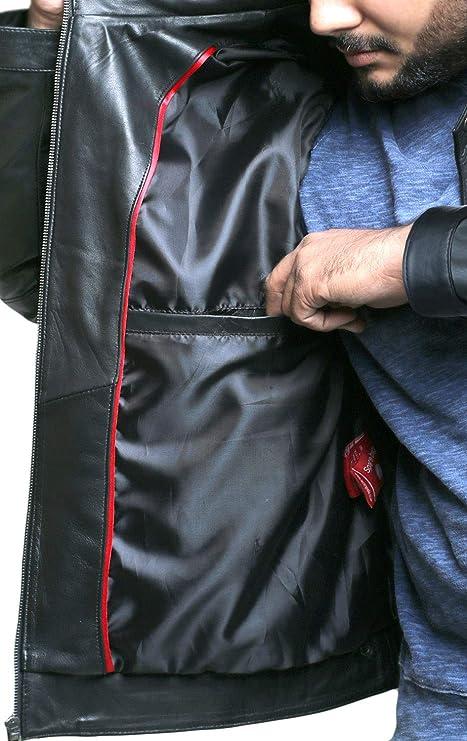 Laverapelle Mens Genuine Lambskin Leather Jacket 1501589 Black, Fencing Jacket
