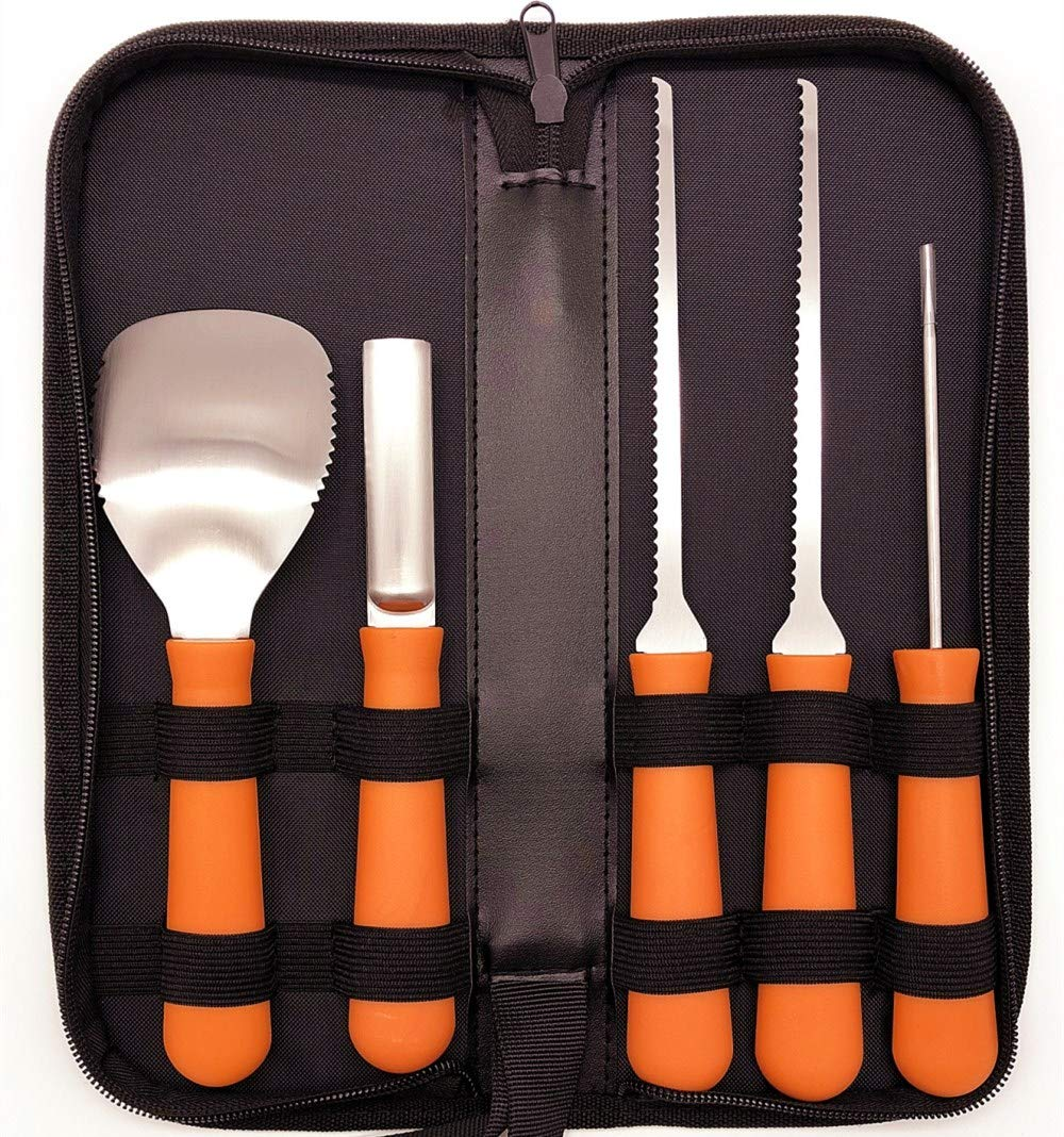Pumpkin Carving Tool Kit(5 piece set)-Easily Carve Sculpt Halloween jack o lantern