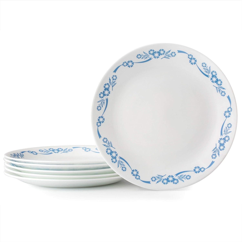 Set of 6 Corelle Livingware Ocean Blues 10.25 Dinner Plate
