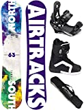 AIRTRACKS SNOWBOARD SET / NORTH SOUTH SNOWBOARD FLAT ROCKER + SOFTBINDING SAVAGE +SOFTBOOTS + SB BAG / 152 156 159 163 / cm