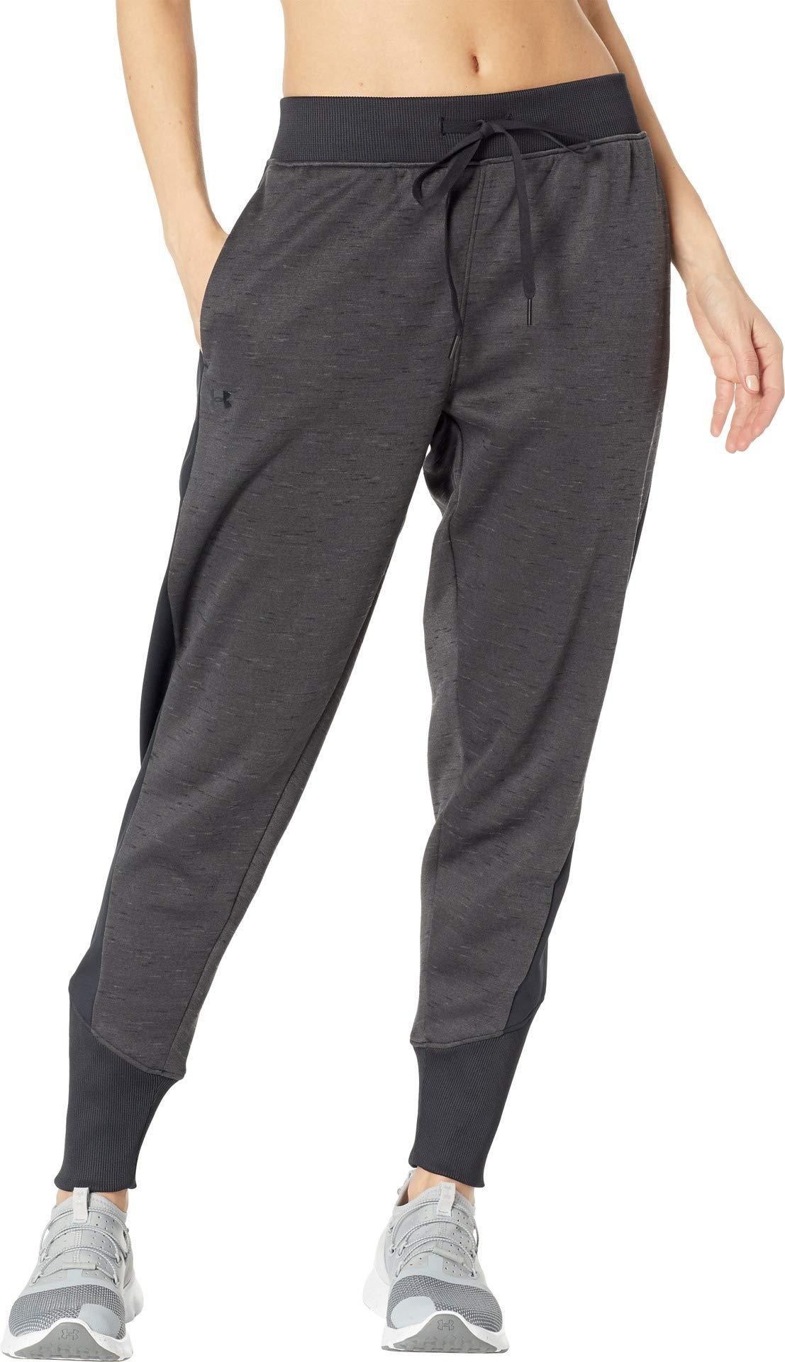 Under Armour Women's Synthetic Fleece Jogger Pants Black/Charcoal/Tonal XX-Large 27.5