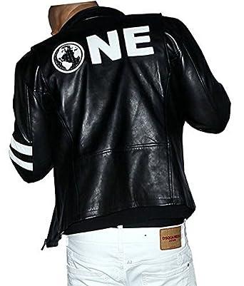 e Genius Herren Daunenjacke Jacke schwarz schwarzweiß