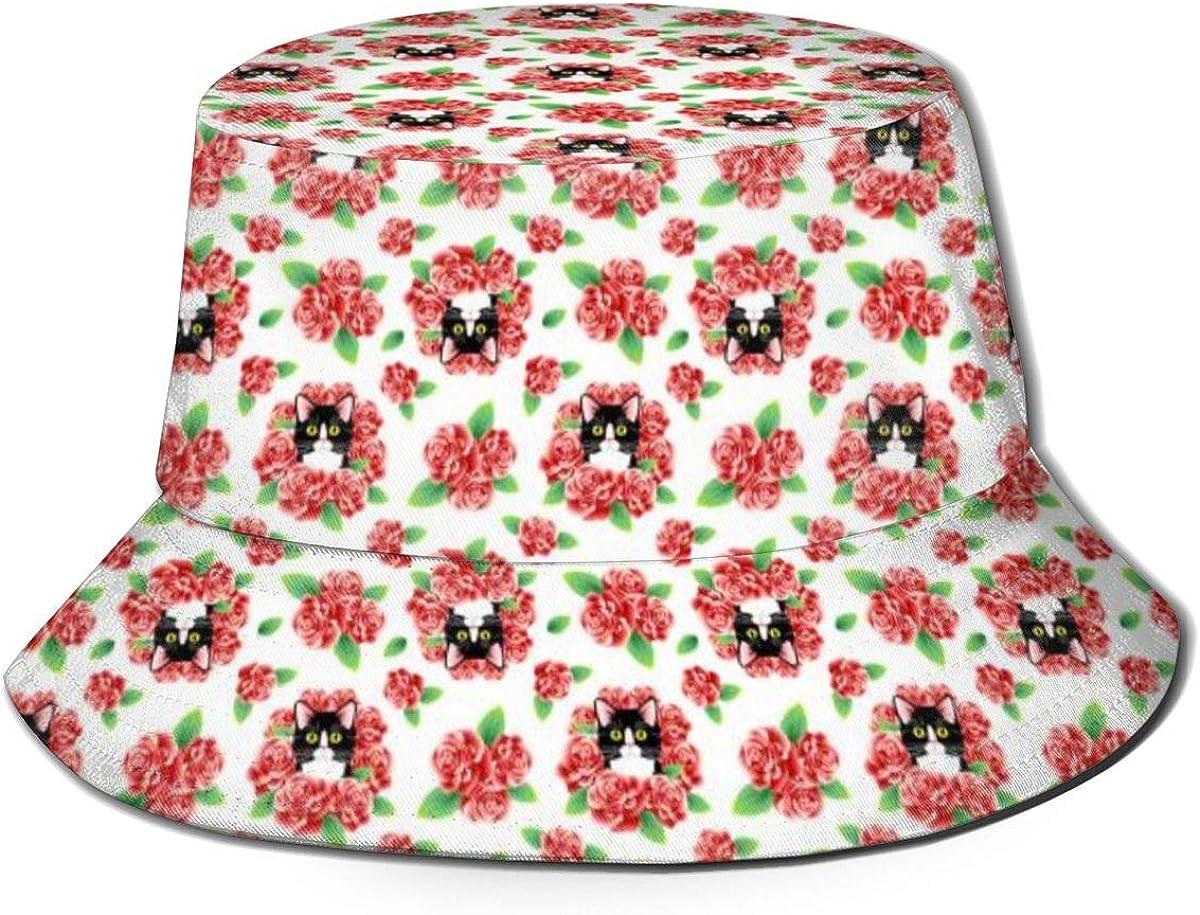 Rose Cats Pattern Bucket...