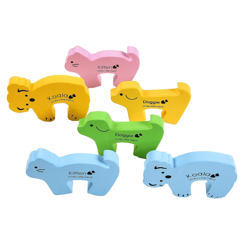/Animals 5/unidades Stop Animal J de PG/® Tope para puerta /& Finger Pinza Protecci/ón//Doort Tope /& Protection para beb/és y ni/ños peque/ños/
