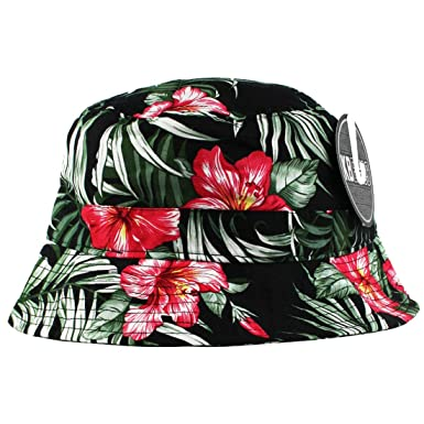 d7bfc970 Image Unavailable. Image not available for. Colour: Tropical Hawaiian  Bucket Hat