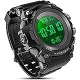 YEENIK Men's Digital Sport Watch, Military Watches with 50M Waterproof Stopwatch Army Alarm Chime Hourly Count Down Calendar