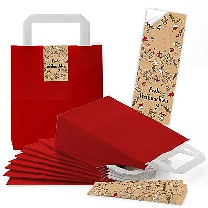 25 rojas Decoración navideña Bolsa de papel Gingerman Asa ...