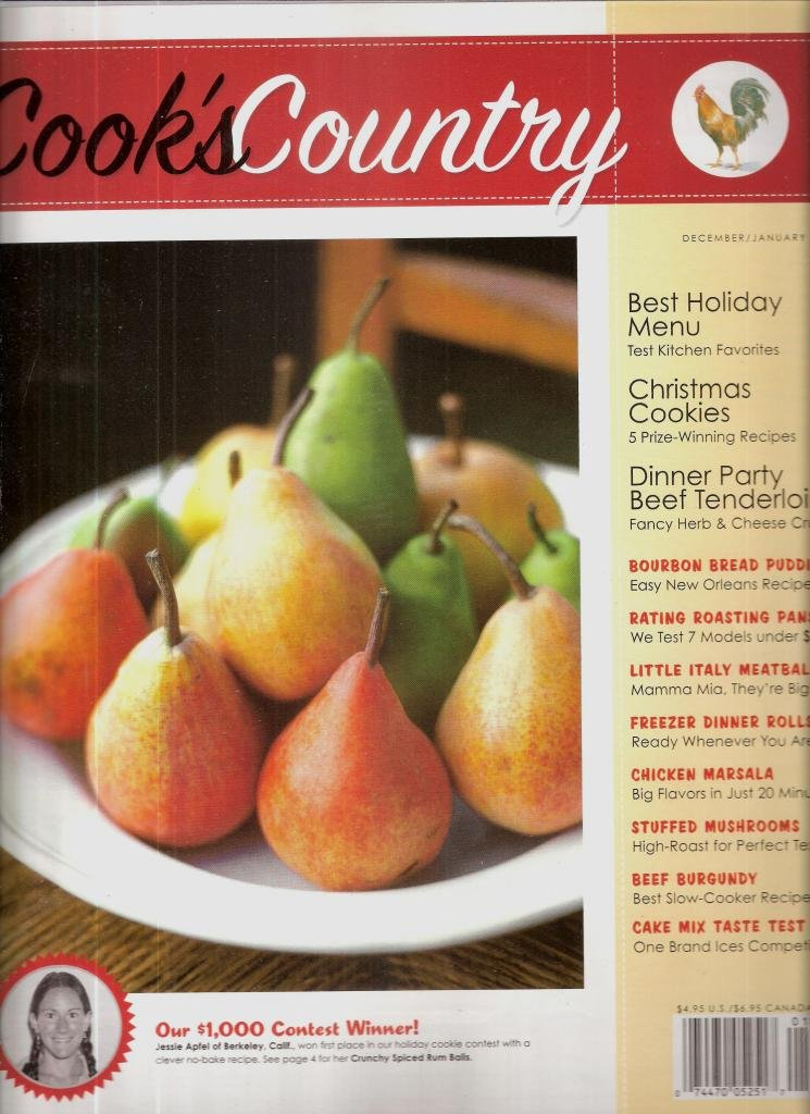 Download COOK'S COUNTRY December/January 2007 (Magazine. Cook's Illustrated. Recipes. Cook Book. Cheesecake. Mushrooms.) ePub fb2 ebook