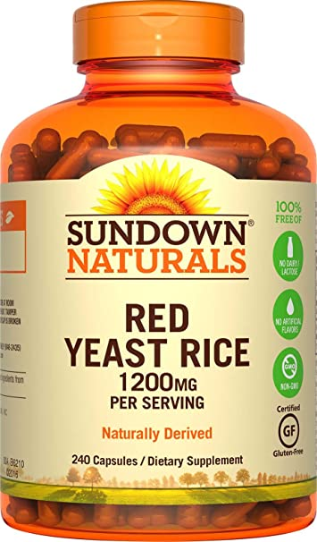 amazon com sundown naturals red yeast rice 1200 mg capsules 240