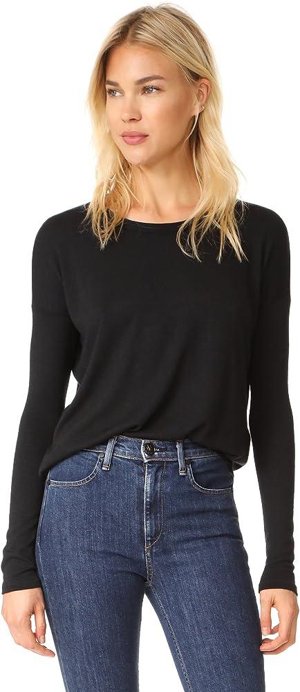 945e0efe1bce Rag & Bone/JEAN Women's Hudson Long Sleeve Tee, Black, XX-Small at ...