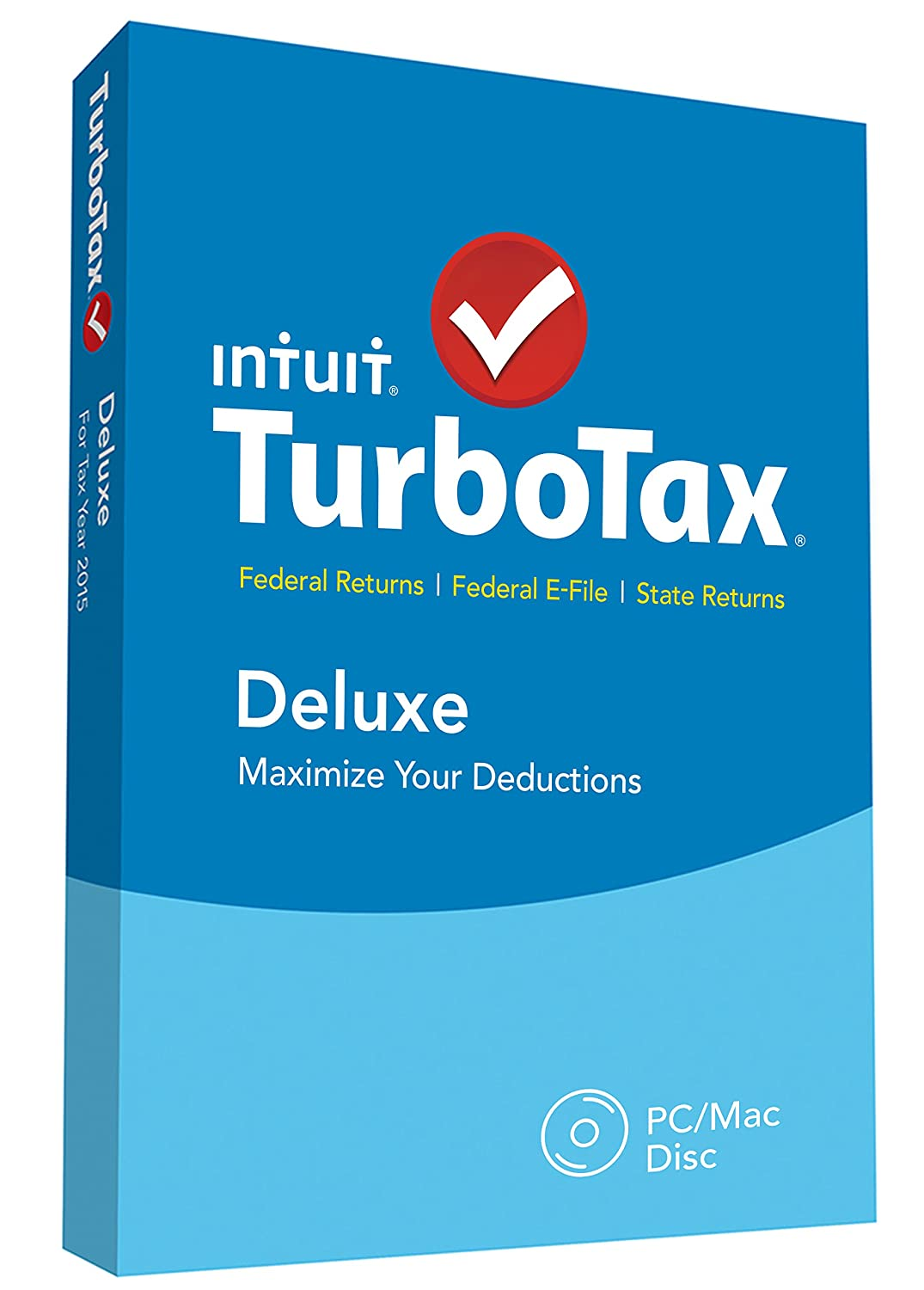 worksheet Itsdeductible Worksheet amazon com turbotax deluxe 2015 federal state taxes fed efile tax preparation software pcmacdisc old version software