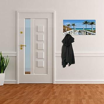 Perchero con diseño Camino a la Playa Pared Gancho ...