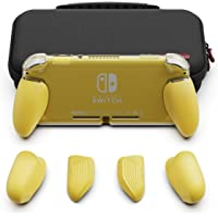 Skull & Co. GripCase Lite Bundle - Funda para Nintendo Switch Lite, Bundle-Amarillo, GripCase Lite + MaxCarry Case Lite Bundle