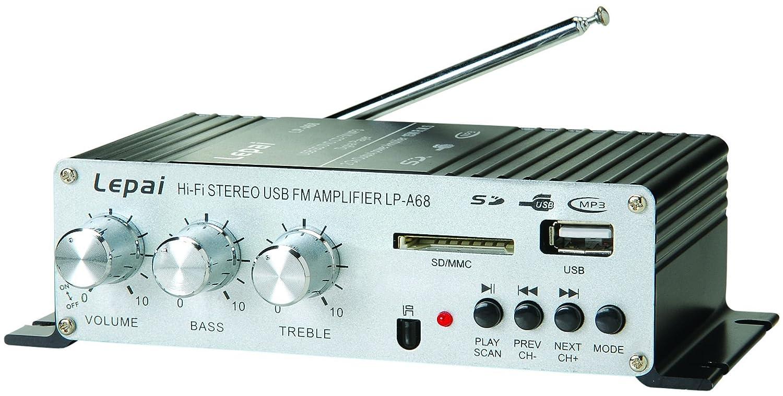 Lepai Lp A68 Digital 2 X 15w Amplifier With Remote Usb Lp2020a Tripath Classt Hifi Audio Mini Power Supply Mp3 Sd Fm Home Theater