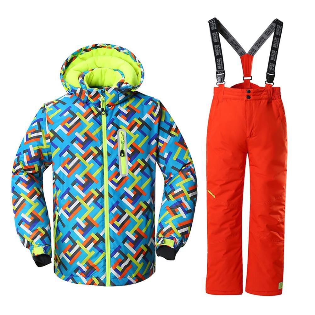 HOTIAN Windproof Boys Snow Jacket Insulated Ski Jacket + Pants Snowsuit (US 4-US 16) HDI