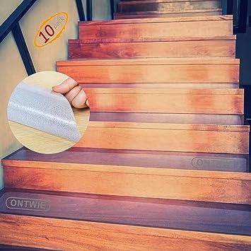 Escalera Antideslizante, ONTWIE 15 * 60cm Transparente Pisadas de Escaleras Antideslizantes de Seguridad, Antideslizantes Tracción Escaleras de Seguridad, Cinta Adhesiva para Escalera: Amazon.es: Bricolaje y herramientas