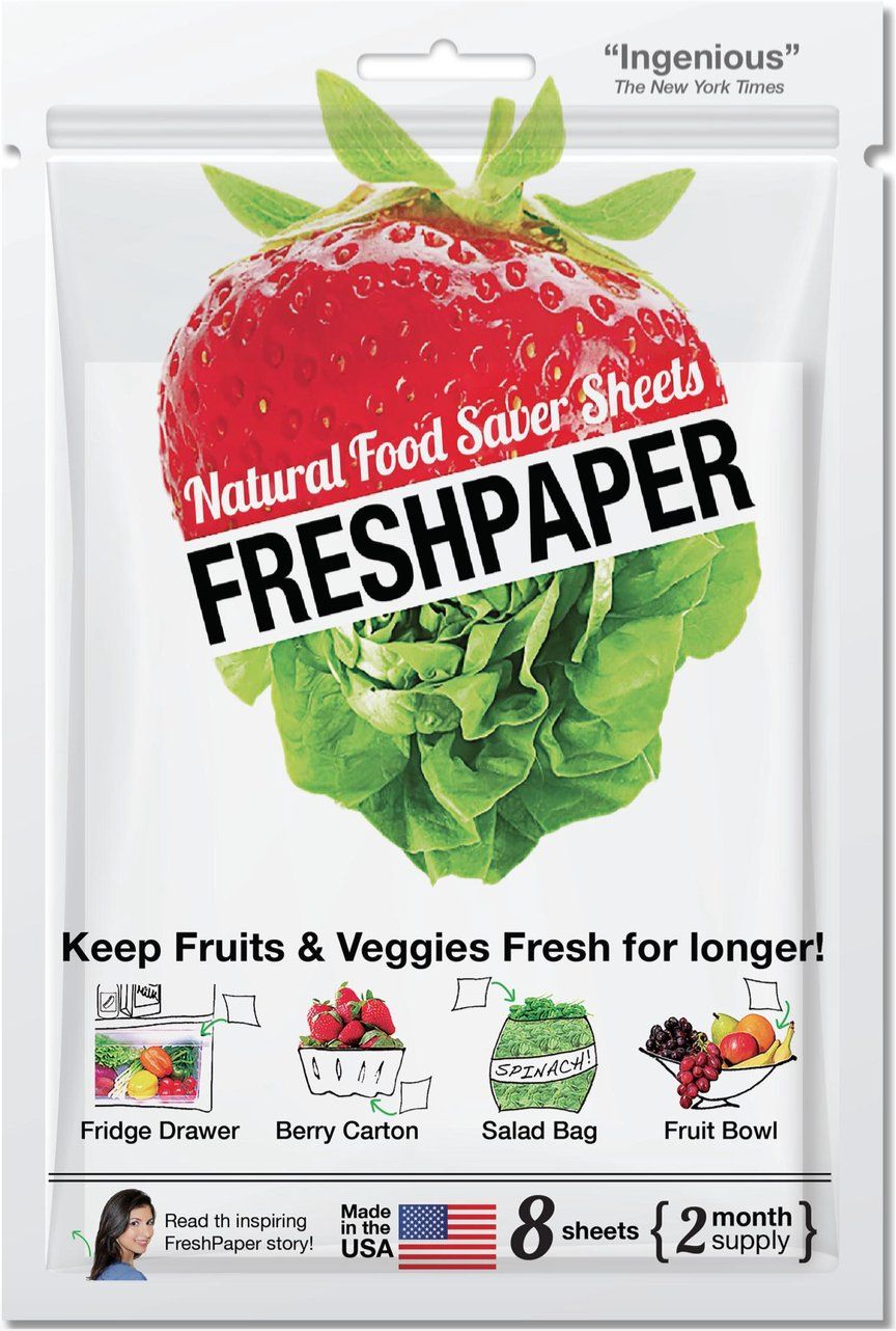 amazon com fenugreen freshpaper produce saver sheets kitchen