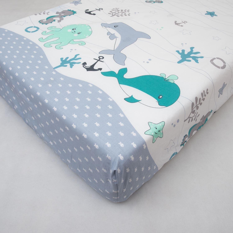 Drap housse b/éb/é 100/% coton pour lit de 120 x 60 cm motif 13
