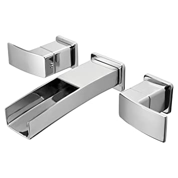 Pfister GT49DF1C Kenzo 2 Handle Waterfall Wall Mount Waterfall Bathroom  Faucet In Polished Chrome Part 21