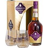 Courvoisier VSOP Cognac 70cl Gift Pack with 2 Branded Glasses