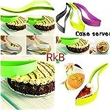 SOSA Plastic Kitchen Ergonomic Design Cake Pastry Server Cutter And Slicer(Assorted Color)