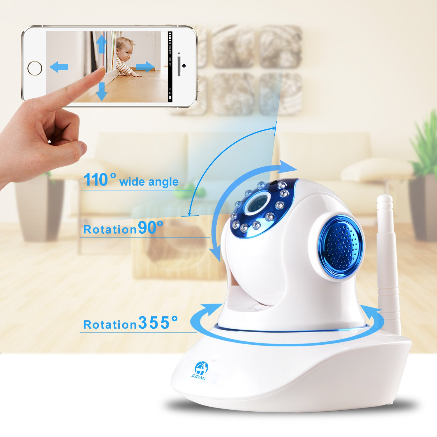 Home Network Security Appliance Amazoncom Video Baby Monitor Jooan Wireless Ip Camera Two Way