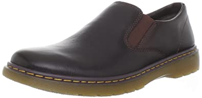 Dr. Martens Men's Ethan Slip-On,Dark Brown Overdrive,7 UK/