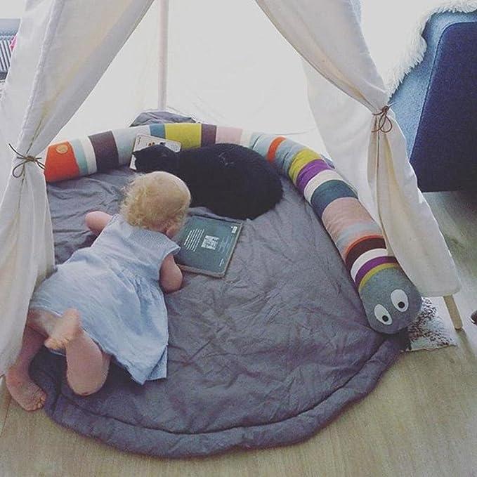 gordesc 1 pc bebé cama Bumpers para arc-en-serpent serpiente almohada decoración de la casa Creative Simple niños dormitorio decoración almohada Bébé ...