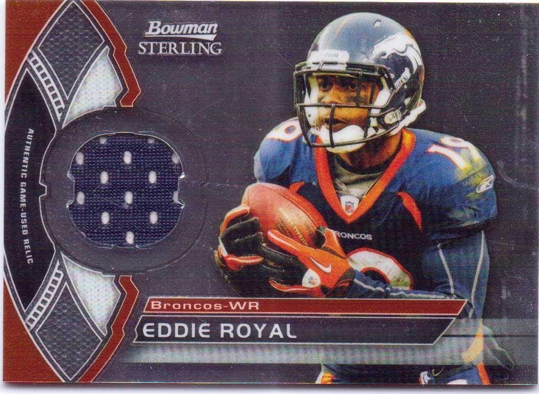 Eddie Royal 2011 Bowman Sterling Game Worn Jersey #BSR-ER - Denver ...