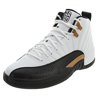 046dd1d641965 Jordan Nike Mens Air 12 Retro CNY Chinese New Year White Black-Varsity Red