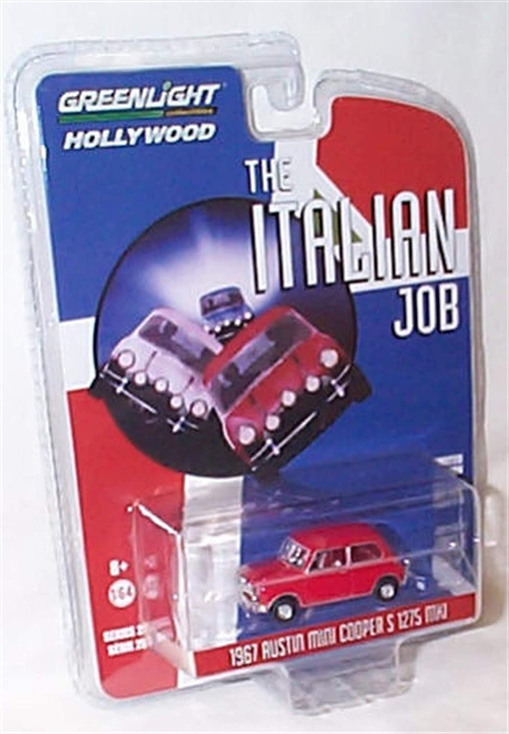 Greenlight Collectables 1967 MINI C00PER S 1275 Mk1 italian Job Red Blue /& White Car set 1:64 scale limited edition diecast model