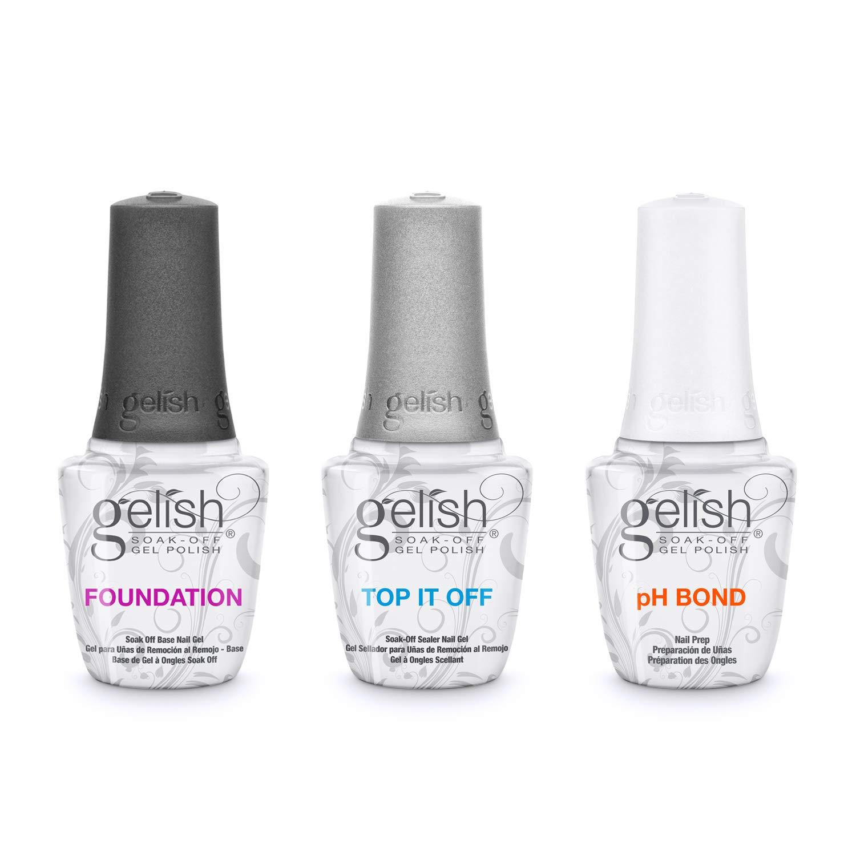 Gelish Terrific Trio Essentials 15 mL Basix Care Soak Off Gel Nail Polish Kit