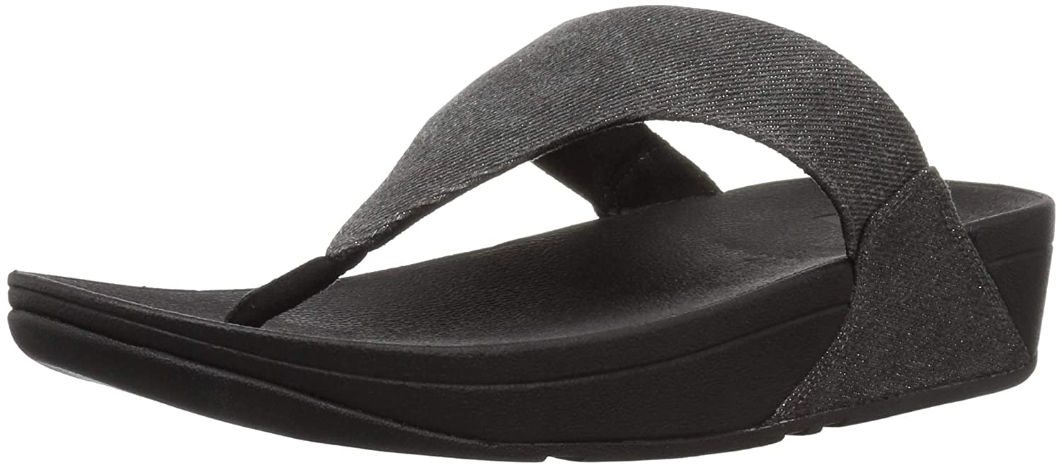 b28c24d3c439 Amazon.com  FitFlop Women s Lulu Toe-Thong Sandals-Shimmer-Denim Flip-Flop   Shoes
