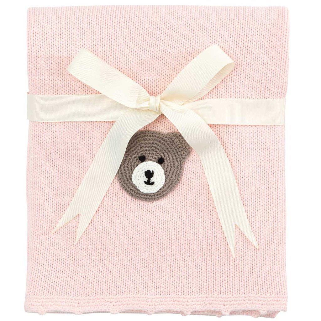 Elegant Baby Bear Crochet Blanket