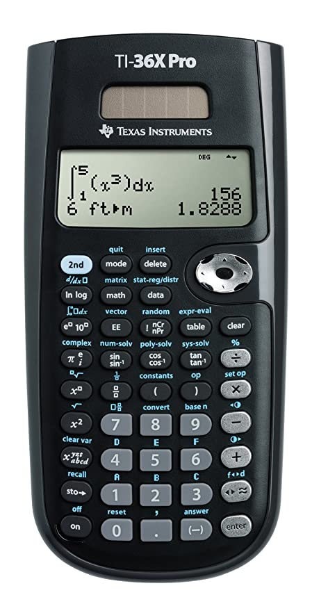 amazon com texas instruments ti 36x pro engineering scientific rh amazon com TI- 36 Solar X TI- 83 Plus
