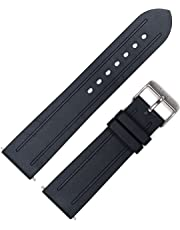 MARATHON Divers Model Rubber Watch Band/Strap (22 mm Black). Made in Italy.