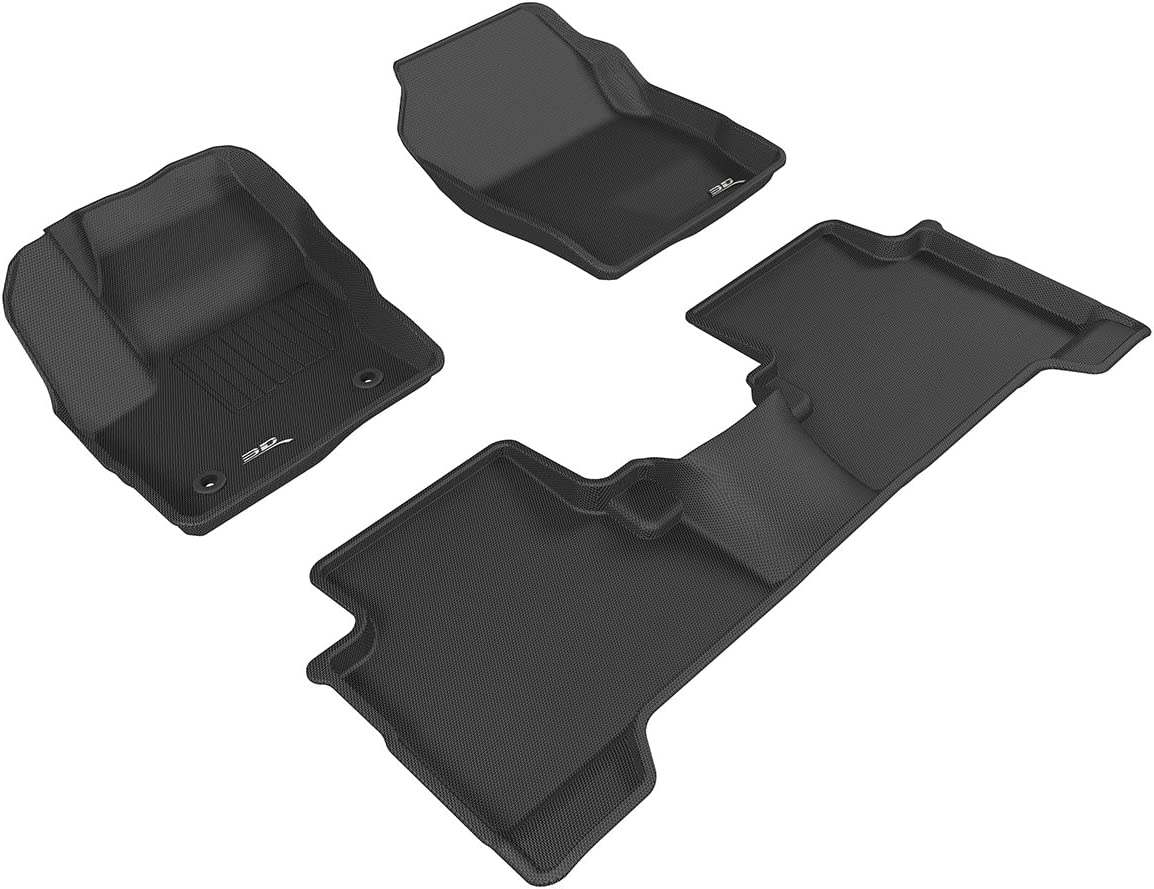 Black 3D MAXpider Front Row Custom Fit All-Weather Floor Mat for Select Ford Escape Models L1FR10611509 Kagu Rubber