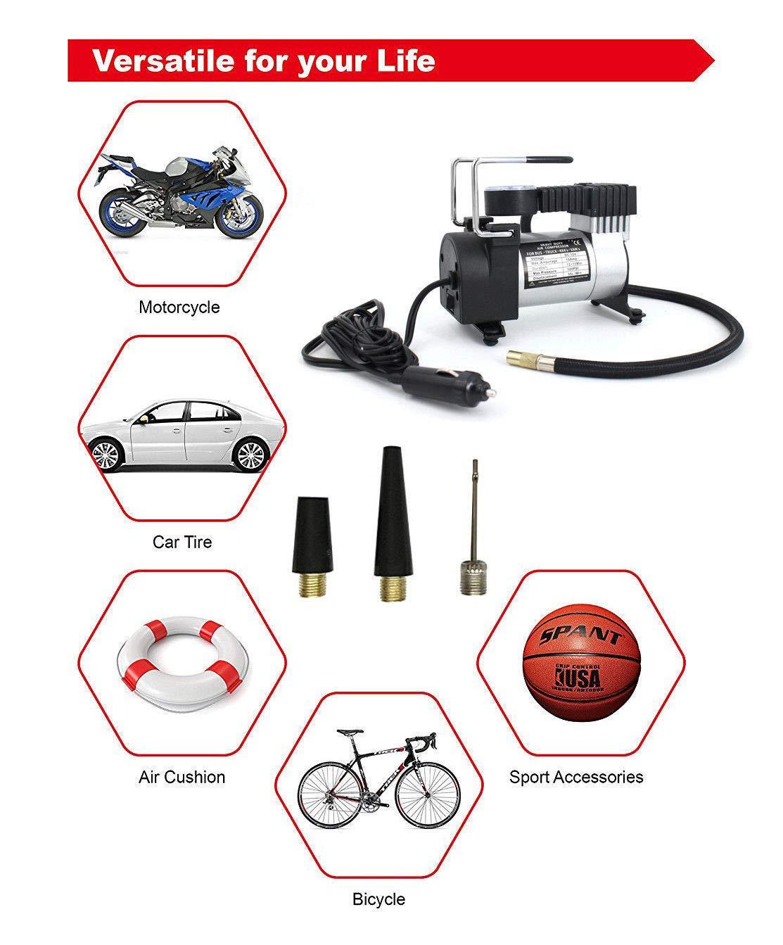 Amazon.com: TG888 Digital Air Inflator Pump Compressor Heavy Duty 12V 100PSI Car Truck Tire Soccer: Home Improvement