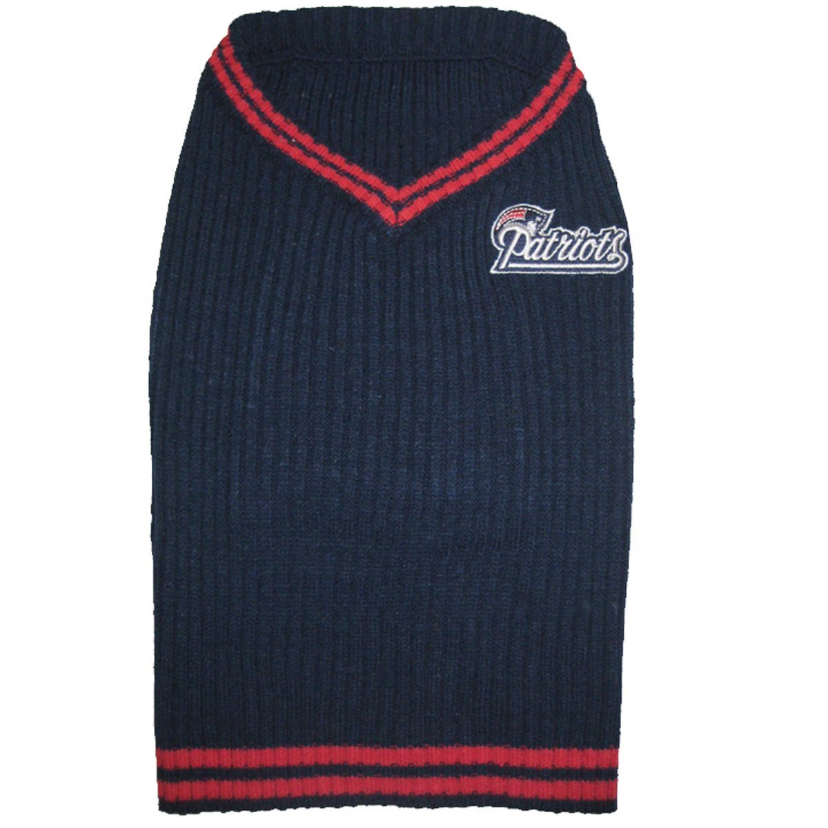 NEW ENGLAND PATRIOTS Dog Pet Embroidered Sweater ★ ALL SIZES ★ Licensed NFL (Medium) by PETS FIRST