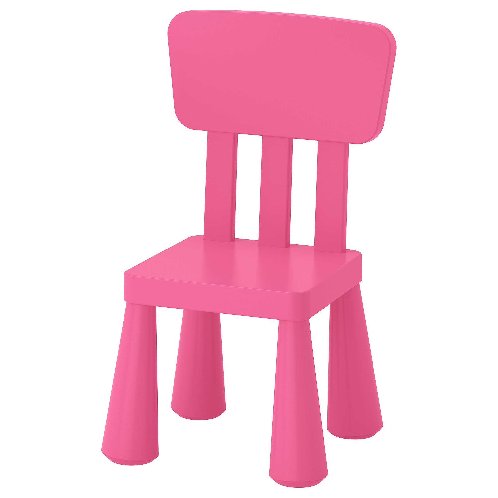 Ikea Mammut Kids Indoor / Outdoor Children's Chair, Pink Color - 1 Pack