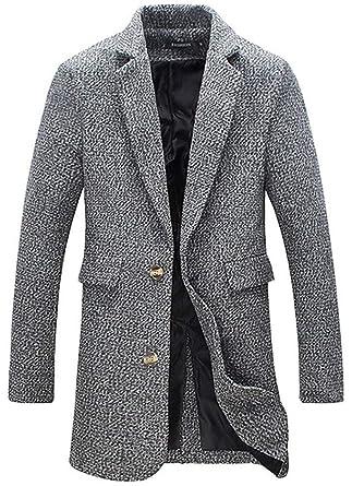 Veste Manches Bouton Blazer Revers Longues Manteau Homme Costume nN08vmw